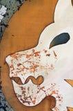 Lion head, fragment, hot batik. Background texture, handmade on silk, abstract surrealism art stock image