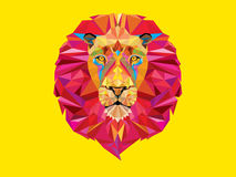 Lion head in geometric pattern Royalty Free Stock Images