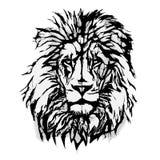 Lion Head Graphic Stock Afbeelding