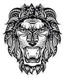 Lion Head Graphic.Leo Royalty Free Stock Photography