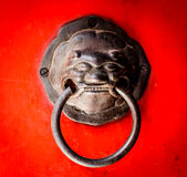 Lion head handle Stock Photography