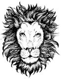 Lion Head Icon. File Royalty Free Stock Photo