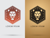 Lion head icon Royalty Free Stock Image