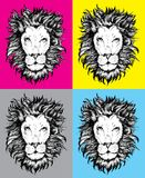 Lion Head Icon. Lion Head pop art vector file Royalty Free Stock Images
