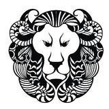 Lion Head Icon.Tattoo design Royalty Free Stock Photography