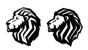 Lion head icon Stock Photography