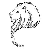 Lion Head Illustration. Print for textile or flyers and posters. Stock Image