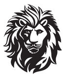 Lion head illustration Royalty Free Stock Photography