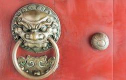 Lion head knocker from. Royalty Free Stock Photo