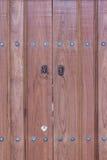Lion head knocker on the doors Stock Photos