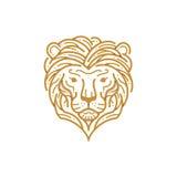 Lion Head Line Stock Afbeeldingen