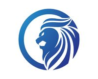 Lion Head Logo Images stock