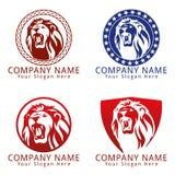 Lion Head Logo Concept Imagenes de archivo
