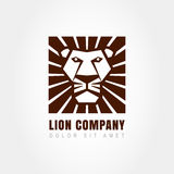 Lion head logo template, symbol of strength, power, guard and se. Curity. Abstract design concept for business. Vector illustration Royalty Free Stock Image