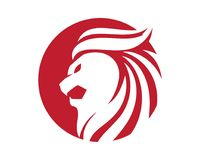 Lion Head Logo. Template vector icon Royalty Free Stock Images