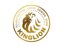 Lion head logo - vector illustration, emblem design Royalty Free Stock Photography