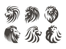 Lion head logo - vector illustration, emblem design Royalty Free Stock Photo