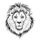 Lion Head Logo Vectorillustratie, die op witte achtergrond wordt geïsoleerd Royalty-vrije Stock Afbeelding
