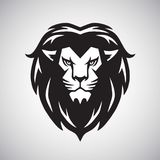 Lion Head Logo Vetora Illustration Fotografia de Stock Royalty Free