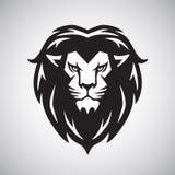 Lion Head Logo Vetora Illustration Fotografia de Stock Royalty Free