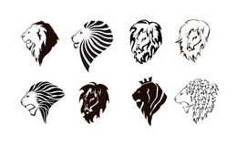 Lion head logo. Royalty Free Stock Photos