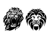 Lion head. Logotype of  template. Creative illustration. Animal. Wild lion face graphic sign. Pride, strong and power concept . Design element Royalty Free Stock Photos