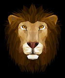 Lion head. Low poly design, illustration of lion head, EPS 8 Stock Image