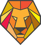 Lion Head Low Polygon Illustration Stock