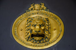 Lion head mailbox Royalty Free Stock Images