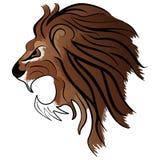 Lion Head Mascot arrabbiato Fotografia Stock Libera da Diritti