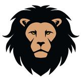 Lion Head Mascot Cartoon. Vector Illustration Stock Photos