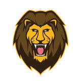 Lion head mascot Royalty Free Stock Image