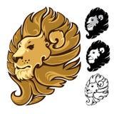 Lion Head Mascot Emblem Foto de Stock Royalty Free