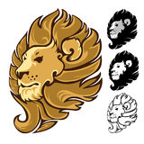 Lion Head Mascot Emblem Royalty Free Stock Photo