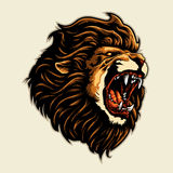 Lion Head Mascot enojado Imagenes de archivo