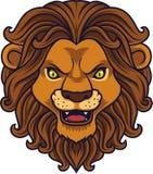 Lion Head Mascot fâché illustration libre de droits