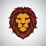 Lion Head Mascot Logo Template Photo libre de droits