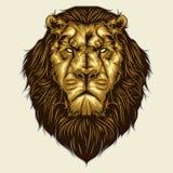 Lion head mascot Stock Photo