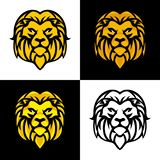 Lion Head Mascot o Logo Vector Design ilustración del vector