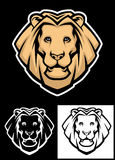 Lion head mascot Stock Images