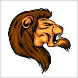 Lion head mascot - vector illustration for sport Stock Image
