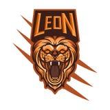 Lion Head Mascot voor Esports-Embleem royalty-vrije illustratie