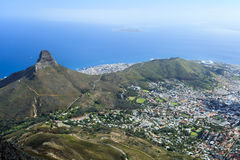 Lion Head Mountain Sydafrika Royaltyfri Foto