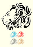 Lion head ornament. Lion face tribal,easy to use,good for your tattoo design, vector file Royalty Free Stock Photography