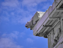 lion head on parthenon temple Royalty Free Stock Images
