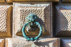 Lion Head with Ring on the Wall. Detail Stock Image