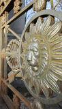 Lion head in round frame, the decoration Royalty Free Stock Photography
