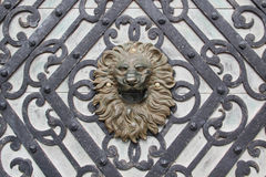 Lion head sculpture Stock Photography