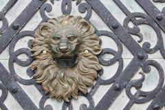Lion head sculpture Stock Photo