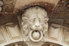 Lion head sculpture Royalty Free Stock Image